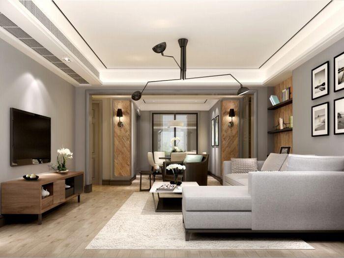 北欧风格-126平米三居室-装修样板间