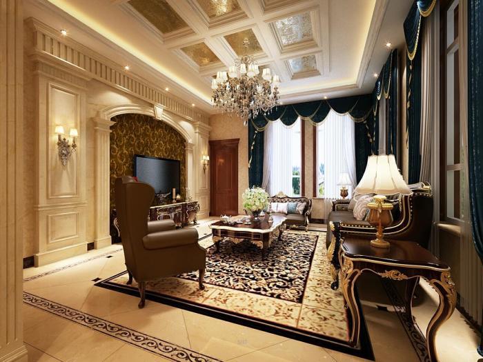 古典欧式风格-378平米四居室-装修设计