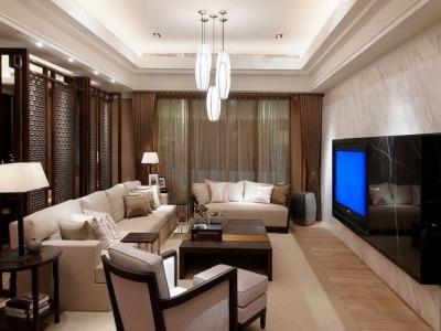 中式风格-118平米四居室装修样板间