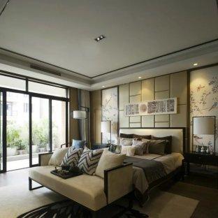 新中式别墅卧室装修效果图