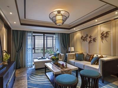 中式古典-110.27平米三居室装修样板间