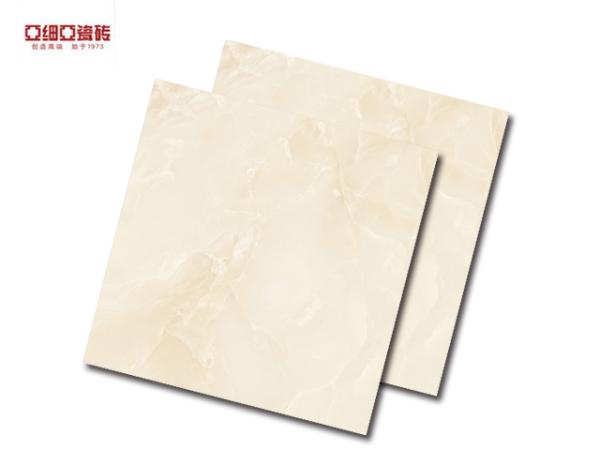 亚细亚 客厅 全抛釉地砖 立体大理石系列 【羊脂玉】