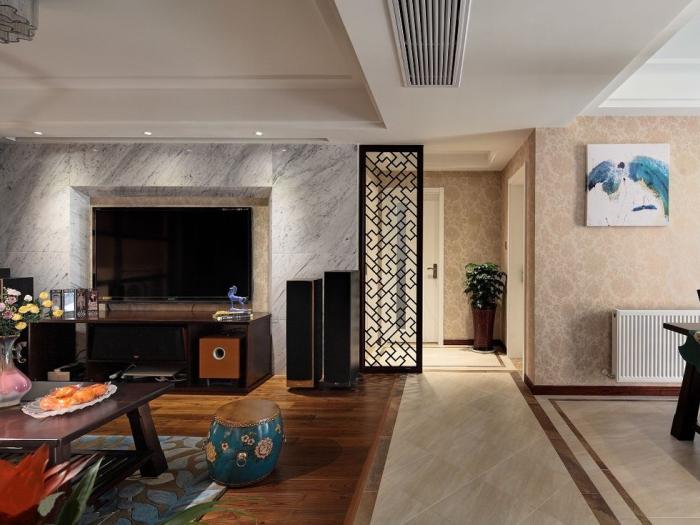 中式古典-138.49平米三居室-装修样板间