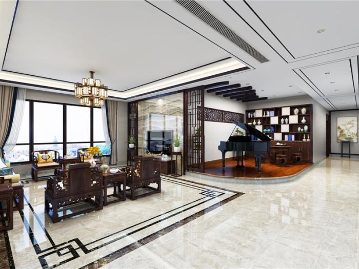 中式古典-304平米四居室整装-装修样板间