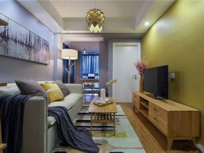 北欧风格-95平米二居室整装装修设计