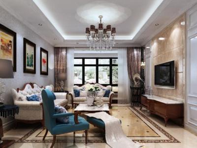 新古典风格-130平米二居室装修样板间