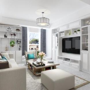 现代简约二居室装修效果图