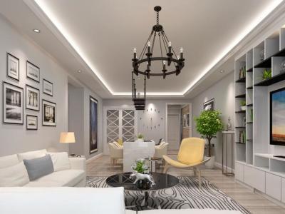 现代简约-120平米二居室装修样板间