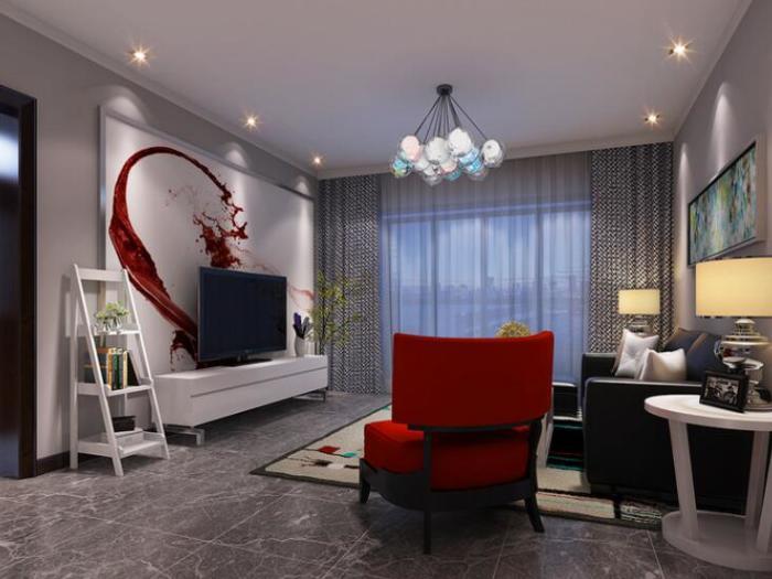 混搭风格-118平米二居室整装-装修样板间