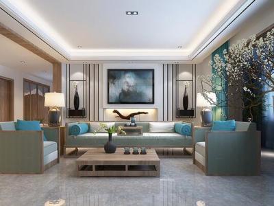 中式风格-240平米四居室整装装修样板间