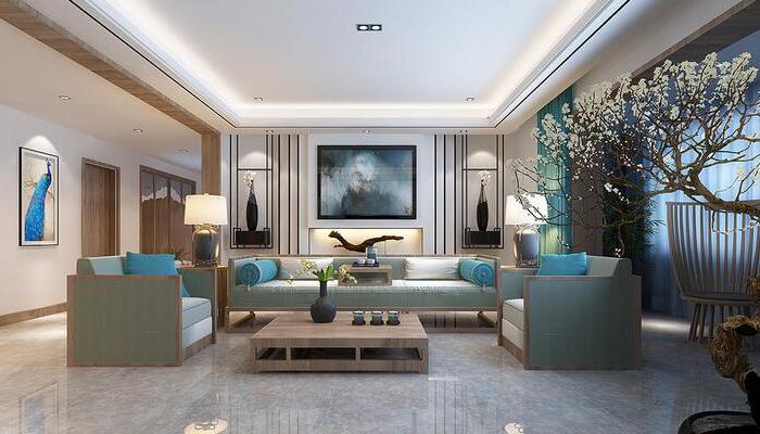 中式风格-240平米四居室整装-装修样板间