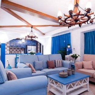 地中海风格四居室装修效果图