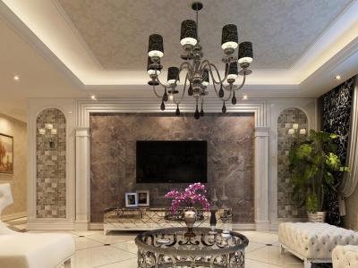 欧式风格-245平米三居室整装装修样板间