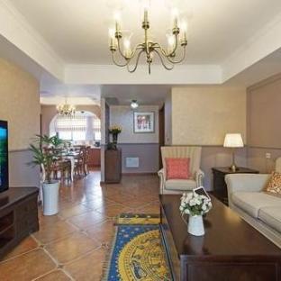 欧美风情四居室客厅装修效果图
