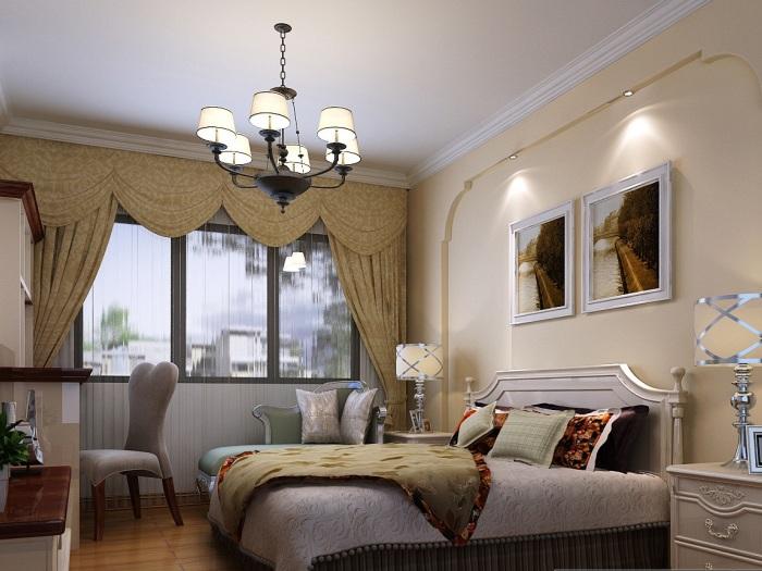欧美风情-128平米三居室-装修样板间