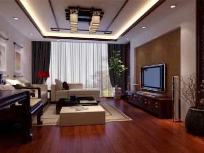 中式古典-140平米三居室整装装修样板间