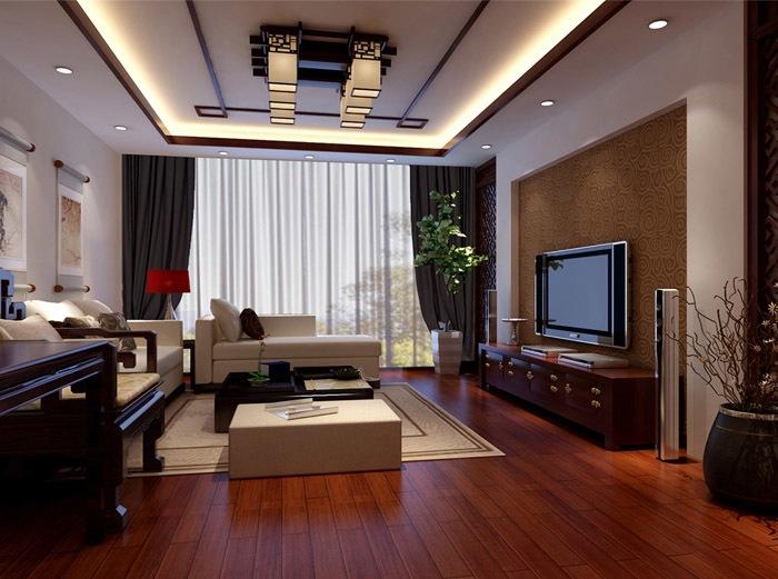 中式古典-140平米三居室整装-装修样板间