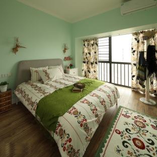 田园风格二居室装修效果图