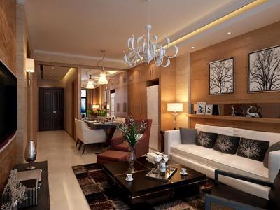 现代简约-112平米三居室整装装修样板间