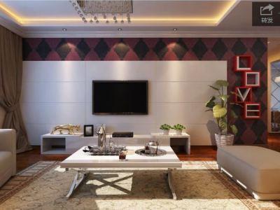 现代简约-120平米三居室整装装修设计