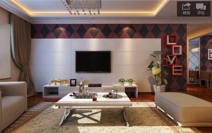 现代简约-120平米三居室整装-装修设计