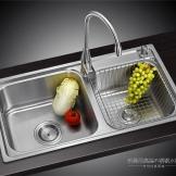 乐曼尼高端厨房不锈钢水槽一体拉伸槽LMN-Y8245