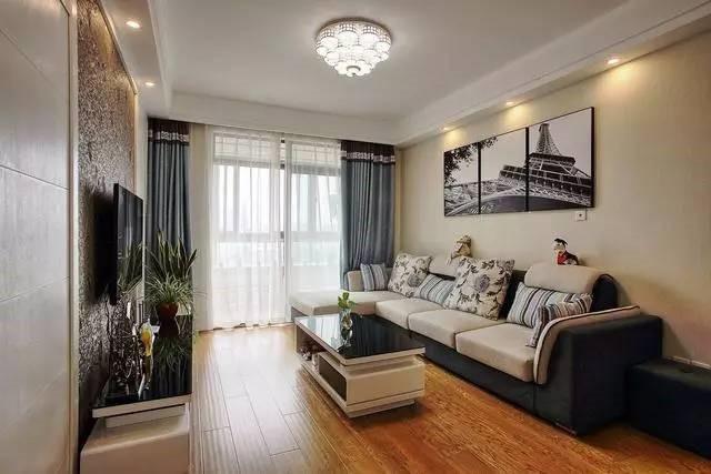 现代简约-97平米二居室整装-装修样板间