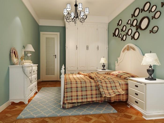 田园风格-95平米三居室整装-装修样板间
