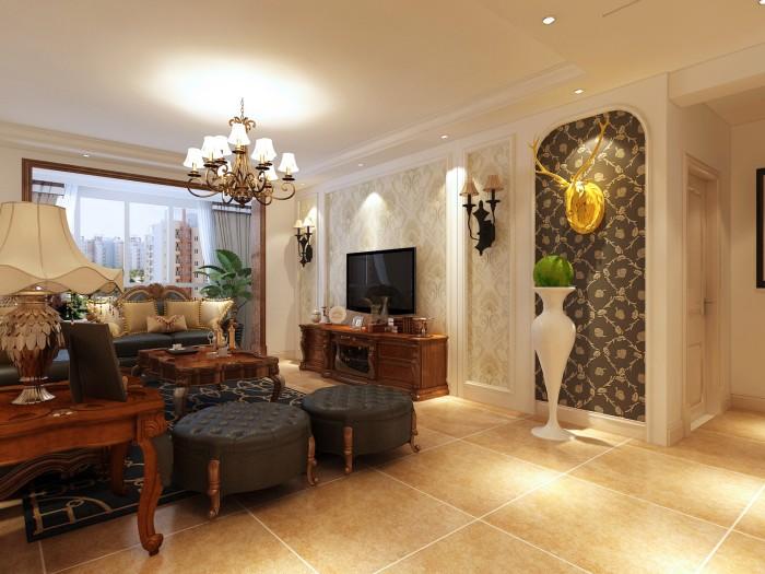 简美风格-125平米三居室整装-装修样板间