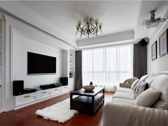 现代简约-92平米三居室-装修样板间