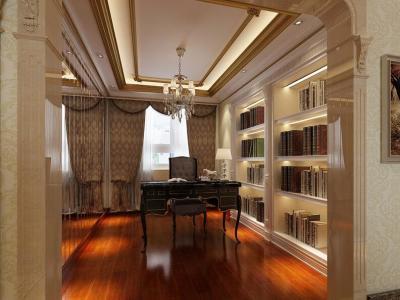 欧式风格-126平米三居室整装装修样板间