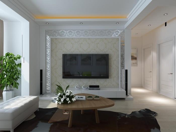 现代简约-97.74平米三居室整装-装修样板间