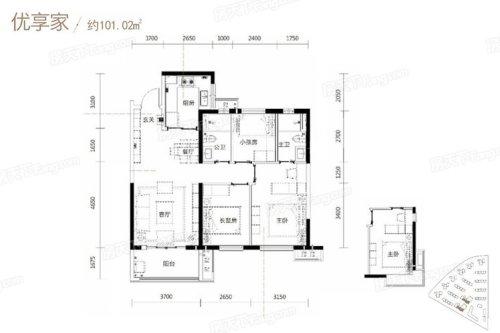 现代简约风格3室2厅101�O公寓