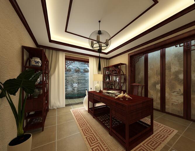 中式风格-150平米三居室整装-装修样板间