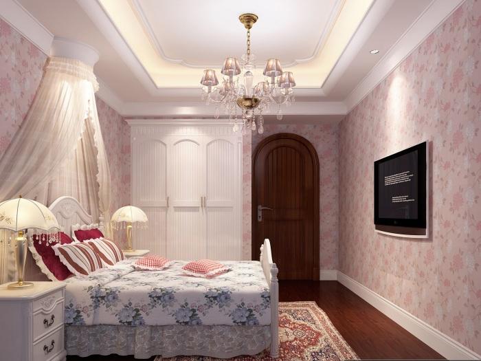 美式-138平米四居室局部装修-装修样板间