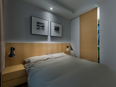 现代简约-50.56平米二居室整装装修样板间