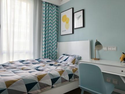 蓝色北欧风格男孩儿童房装修效果图