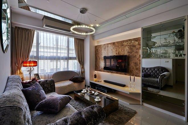 新古典风格-81.37平米二居室整装-装修设计