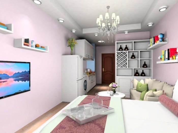 现代简约-49平米一居室整装-装修样板间