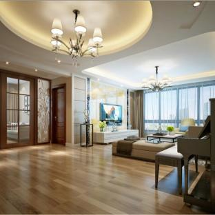 现代简约六居室客厅装修效果图