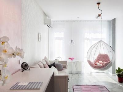 混搭风格-68.87平米一居室整装装修样板间