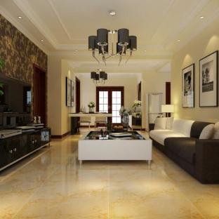 现代简约四居室客厅装修效果图