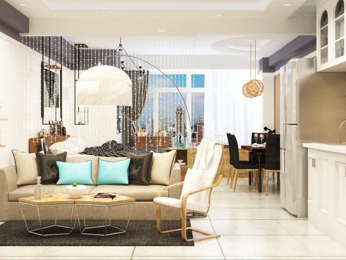 简欧风格-44平米一居室-装修样板间