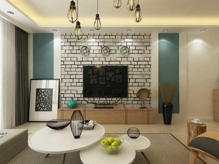现代简约-53平米二居室-装修样板间