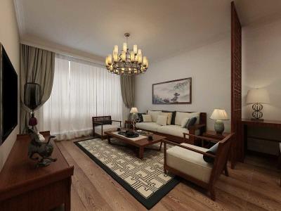中式古典-76平米二居室装修样板间