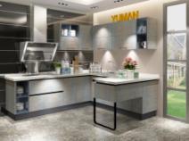 宇曼整体橱柜定做厨房厨柜现代简约双饰面门板石英石台图片