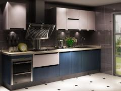 北京宇曼橱柜整体橱柜 定制厨房橱柜 进口爱格门板 现代简约