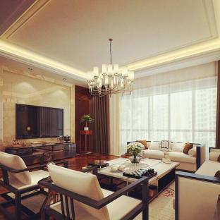 中式风格复式客厅装修效果图