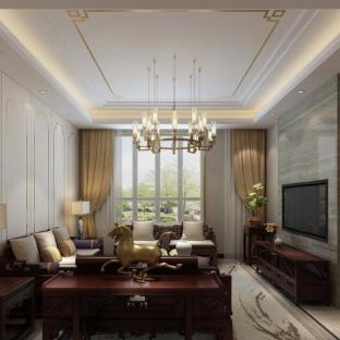 中式古典三居室厨房装修效果图