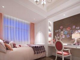 田园风格-83.79平米二居室整装装修样板间